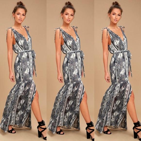 Lulu's Dresses & Skirts - Lulu's Mystical Grey Maxi